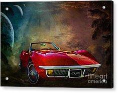 Chevrolet Corvette1972 Acrylic Print by Andrzej Szczerski