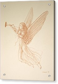 Angel With Trumpet Acrylic Print