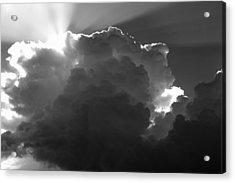 Clouds 1 Bw Acrylic Print by Maxwell Amaro
