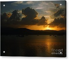 Cloudy Sunset Acrylic Print by Michelle Meenawong