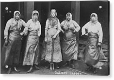 'colliery Lasses' Of Wigan Acrylic Print by Mary Evans Picture Library