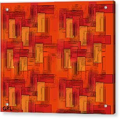 Acrylic Print featuring the painting  Color Of Red V Contemporary Digital Art by G Linsenmayer