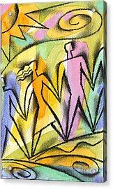 Connection Acrylic Print by Leon Zernitsky