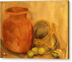 Crock  Pots Acrylic Print by Beth Arroyo