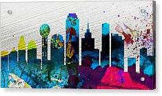 Dallas City Skyline Acrylic Print by Naxart Studio