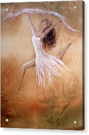 Dancer Leap In Double Attitude Acrylic Print