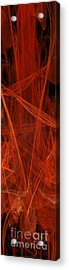 Dancing Flames 1 V - Panorama - Abstract - Fractal Art Acrylic Print by Andee Design