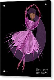Dancing With The Moon B Acrylic Print by Andee Design