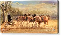 Acrylic Print featuring the digital art  Days In The Dust by Trudi Simmonds