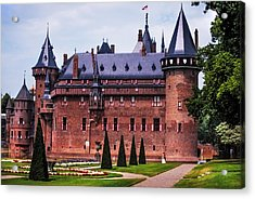 De Haar Castle 4. Utrecht. Netherlands Acrylic Print by Jenny Rainbow