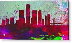 Detroit City Skyline Acrylic Print