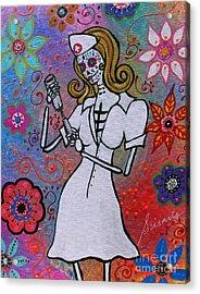 Dia De Los Muertos Nurse Acrylic Print