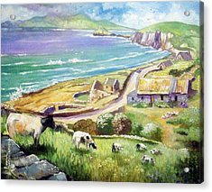 Acrylic Print featuring the painting  Dingle Co Kerry Ireland by Paul Weerasekera