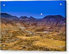 Acrylic Print featuring the photograph  Dinosaur Harvest Moon by Rob Tullis