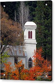 Downieville Church Acrylic Print