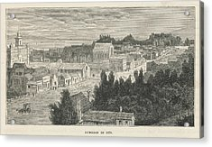 Dunedin  General View        Date 1870 Acrylic Print by Mary Evans Picture Library