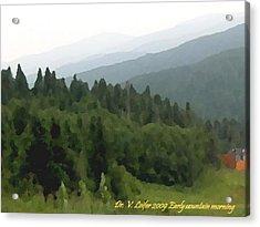 Early Mountain Morning Acrylic Print by Dr Loifer Vladimir