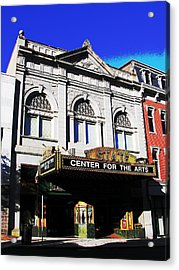 Easton Pa State Theater Center For The Arts Acrylic Print by Jacqueline M Lewis
