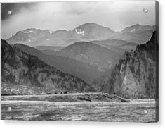 Eldorado Canyon And Continental Divide Above Bw Acrylic Print by James BO  Insogna