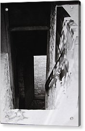 Acrylic Print featuring the photograph  Ephrata Cloisters Stairway by Jacqueline M Lewis