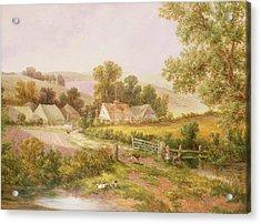 Farmyard Scene Acrylic Print by C L Boes