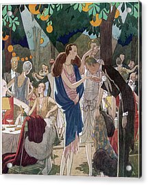 Fashionable People In An Open- Air Acrylic Print by Mary Evans Picture Library