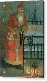 Father Christmas  Acrylic Print by Karl Roger