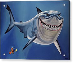 Finding Nemo Painting Acrylic Print by Paul Meijering