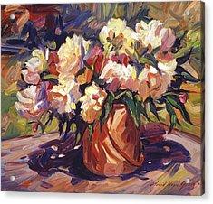 Flower Bucket Acrylic Print by David Lloyd Glover
