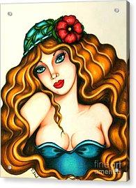 Flower Hat Acrylic Print