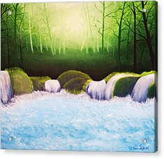 Forest Waterfall Acrylic Print