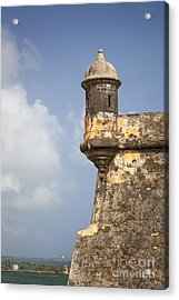 Fortified Walls And Sentry Box Of Fort San Felipe Del Morro Acrylic Print