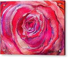 French Pink Acrylic Print