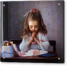 Girl's Prayer Acrylic Print