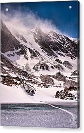Acrylic Print featuring the photograph  Glass Lake by Steven Reed