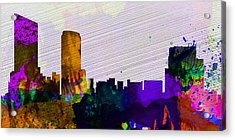 Grand Rapids City Skyline Acrylic Print by Naxart Studio