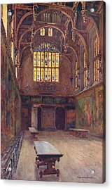Hampton Court The Great Hall Acrylic Print by Mary Evans Picture Library