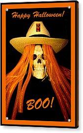 Happy Halloween Skull Acrylic Print