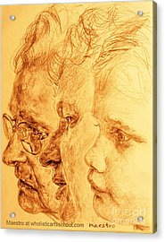 Have Your 3 Generations Drawn Or Painted Acrylic Print by PainterArtistFINs Husband MAESTRO