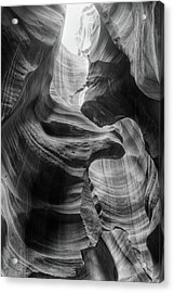 Heavenly Light - Black And White Acrylic Print
