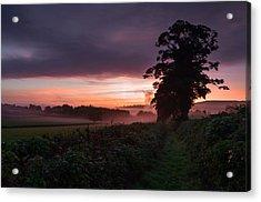 Hele Payne Farm At Dawn Acrylic Print by Pete Hemington