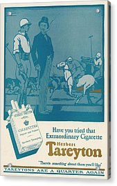 Herbert Tareyton Cigarettes - There's Acrylic Print by Mary Evans Picture Library