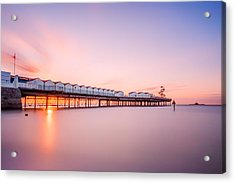 Herne Bay Pier At Sunset Acrylic Print by Ian Hufton