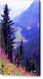 Acrylic Print featuring the photograph  High Mountain Pastures by Giuseppe Epifani