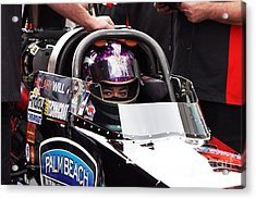 Hillary Will Las Vegas Motor Speed Way Strip Nhra Finals 2008 Acrylic Print by Gunter Nezhoda