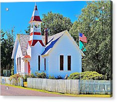 Historic Oysterville Church Acrylic Print