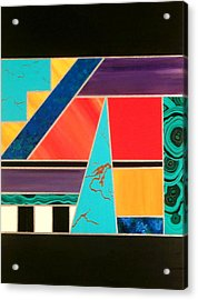 Homage To Inlay #2 Acrylic Print by Karyn Robinson