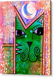 House Of Cats Series - Moon Cat Acrylic Print by Moon Stumpp