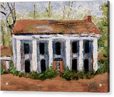 Acrylic Print featuring the painting  House On The Hill by Marie Hamby