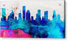 Houston City Skyline Acrylic Print by Naxart Studio